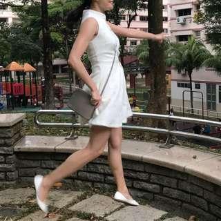 White Cheongsam Qipao