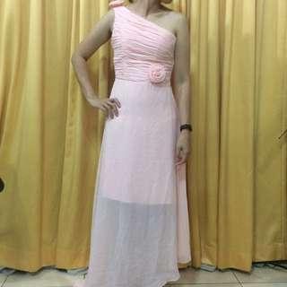 Pink Bridesmaid Dress (3 pieces)