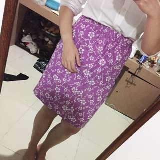 Floral purple skirt