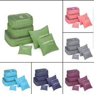 Travel 6pcs storage bag