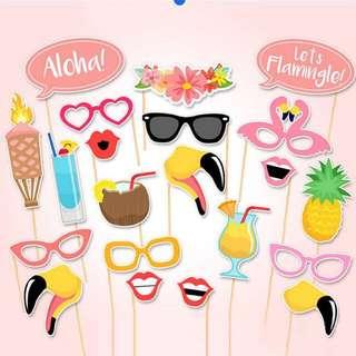 Summer tropical flamingo Photobooth Props