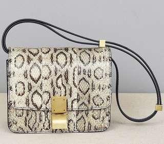 Celine python box bag