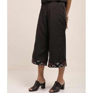 Black Batik Culotte