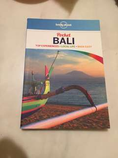 Lonely planet pocket guide -BALI
