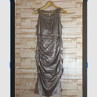 Miss couture Metallic Fitted Dress