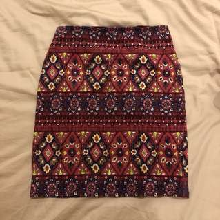 Abercrombie & Fitch Patterned Skirt Size S