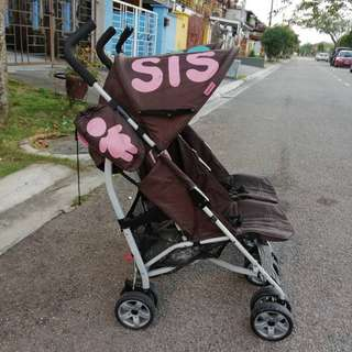 Cosatto twin stroller