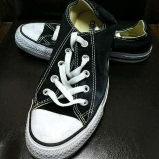 ALL STAR黑色帆布鞋