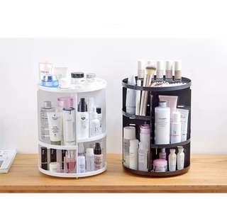 ✅360旋轉化妝品收納架 ✅顏色:粉色/白色/黑色
