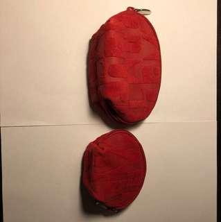 Furla 猄皮小袋兩個