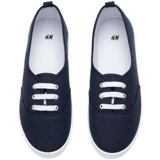 H&M Dark Blue Fabric Shoes