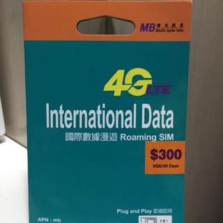 多國國際漫遊4G卡 International Data Card
