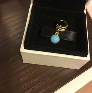 Emernam turquoise marble pendant two sides