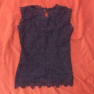 Lace top (blue)