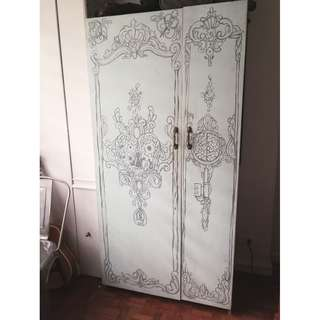Hand-Painted Wardrobe Cabinet
