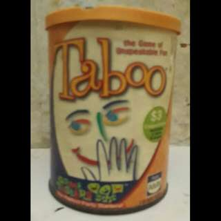 Parker brods. Taboo game in a can