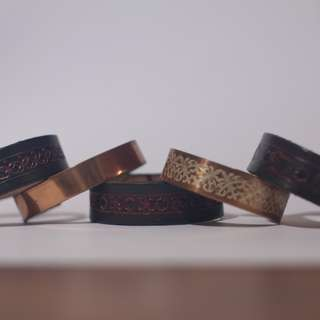 Bracelets metal leather design