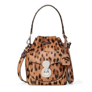 Ralph Lauren Mini Bucket Leopard Calf skin