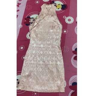 Mgp pink cheongsam dress