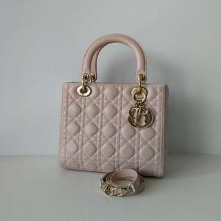 Authentic Lady Dior Medium Bag
