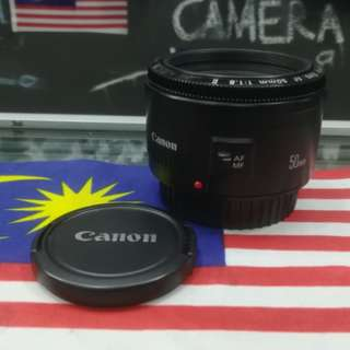USED CANON EF 50MM F1.8 II PRIME LENS