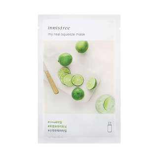 innisfree - My real squeeze mask [lime] 100% new