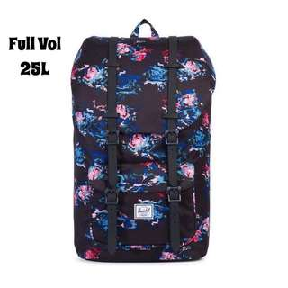 [INSTOCK] HERSCHEL SUPPLY LITTLE AMERICA FULL VOLUME (FLORAL BLUR/BLACK RUBBER)
