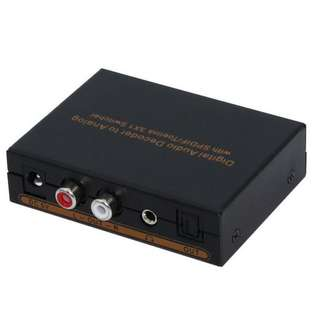 Digital Audio Decoder to Analog with SPDIF/Toelink 3 in 1 Switcher