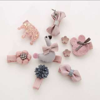 Pink Series Crotchet Baby Hair Clips