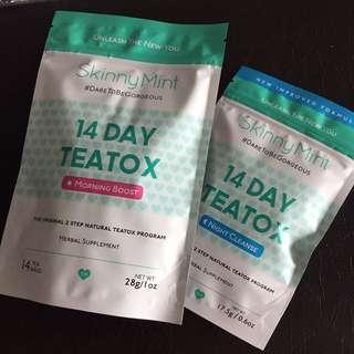 Skinnymint 14 day Teatox program