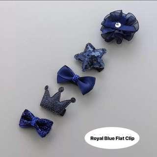 Royal Blue Classy Series Baby Hair Clip