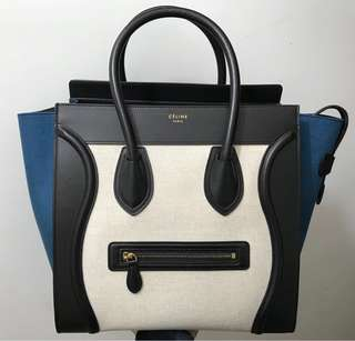 Céline Luggage Mini - (Leather & Canvas) Celine
