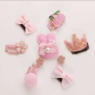 All About Pink Baby Hair Clips