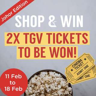 Shop & Win TGV tickets!