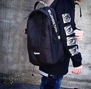 Supreme SS18 Logo Repeat Backpack