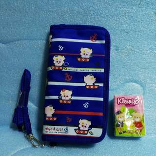 New Mcdull passport pouch /Travel multiple bag  with strap