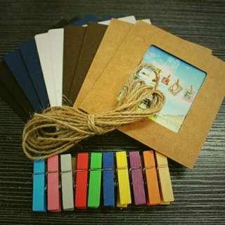 10 pcs wallet size hanging photo frame