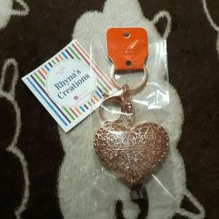 KEY/BAG CHAIN : Heart (Metal)