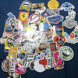 60pc Stickers for laptop or luggage