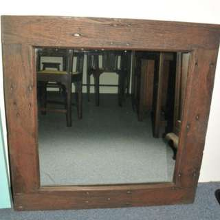 Rustic Mirror with Burma Teak Wood Frame