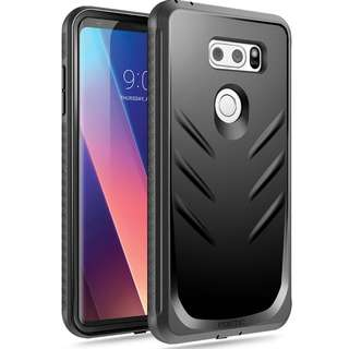 [IN-STOCK] LG V30 & V30+ Case, Poetic Revolution [360 Degree Protection] Full-Body Rugged Heavy Duty Case with [Built-in-Screen Protector] for LG V30 & V30+ (2017) Black