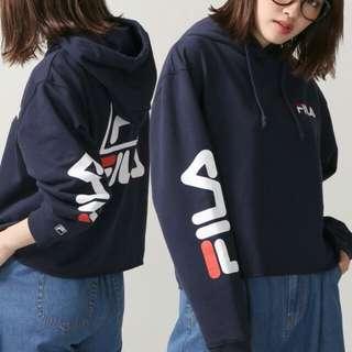 *Preorder* WEGO FILA collaboration sleeve logo hoodie