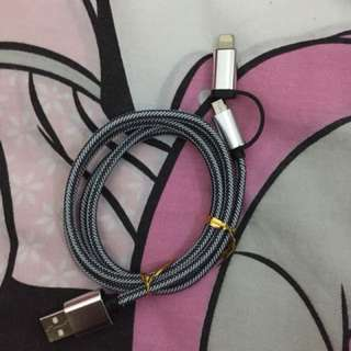 iPhone and Android dual cord from hk