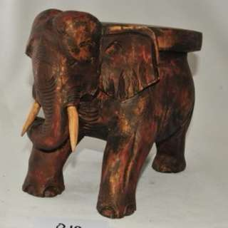 Elephant Wood Carved Stools- Pair
