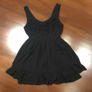 Black frill babydoll dress