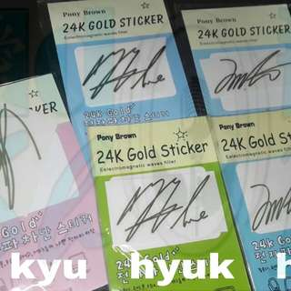 SUPER JUNIOR SIGN. ANTI RADIATION STICKER