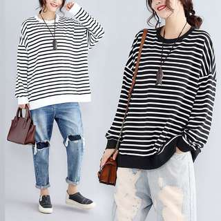 Plus Size Long sleeve sweater sweater cotton long-sleeved T shirt bottoming shirt