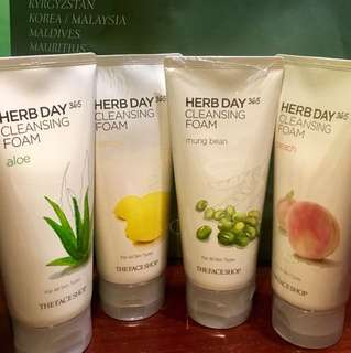 Herb 365 days facial foam
