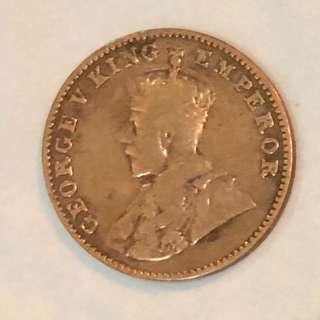 1928年英屬印度佐治五世像硬幣