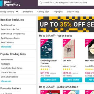 15% off Book Depository